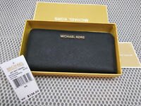 Genuine Michael Kors Saffiano Leather Jet Set Travel Purse  black  Wallet sales
