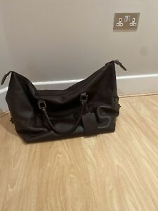 Men's Barbour leather weekend bag