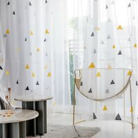Nordic Style Triangle Tulle Curtain Bedroom Window Sheer Living Room Finished-/