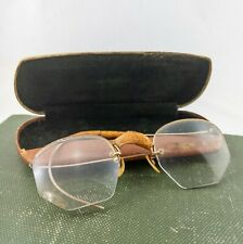 Retro Antique Vintage Oval Gold Silver Wire Rim Eyeglass Frames Spectacles