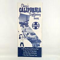 1970 Santa Fe Railroad Vintage Travel Brochure Chico's California Tours SF SD CA