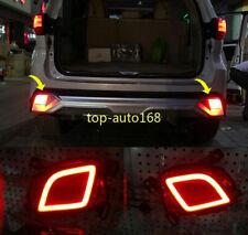 2*Fit For Toyota Highlander 2015- 2017 LED Rear Fog Light Tail Bumper Light Sets