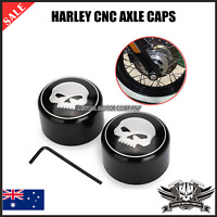 Skull Front Axle Nut Cover Cap Harley Softail Dyna V-Rod Sportster XL 883 1200