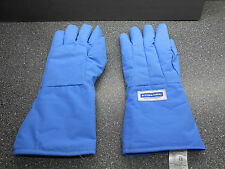 1 PAIR BLUE NATIONAL SAFETY APPAREL WATER RESISTANT CRYOGEN GLOVES LG 15""