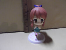 "#B167 Unknown Anime 3.5""in Big Head Brown Hair Cutie Green Summer Dress"