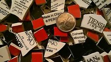 Black, Red and Backstamp Words Broken Mosaic China Plate Tiles