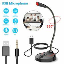360° Universal USB/3.5mm Stand Desktop Microphone Mic For PC Desktop Laptop PS
