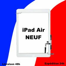 VITRE TACTILE COMPLETE PRÉ-ASSEMBLÉE BLANC IPAD AIR ( iPad 5 ) + ADHÉSIF + HOME