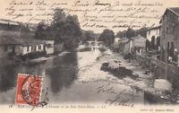 BAR-LE-DUC 12 LL l'ornain vu du pont notre-dame timbrée 1913