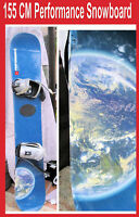 Snowboard Allian Brand Performance w Bindings 155 CM Earth in San Diego Blue