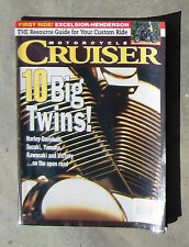MOTORCYCLE CRUISER June 1999 - EXCELSIOR HENDERSON SUPER X VZ 800 HARLEY VULCAN