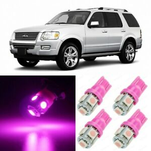 13 x Ultra PINK Interior LED Lights Package For 2002 - 2010 Ford Explorer +TOOL