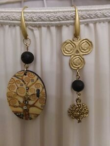 Orecchini pendenti Albero vita Gustav Klimt/Tree of life Gustav Klimt earrings