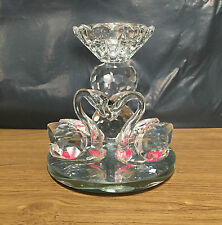 Pair of Swans with Candal Crystal Lovers Glass Swan Decoration Solid Ornament