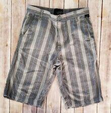 Vans Gray Black Striped Shorts Boy's 14
