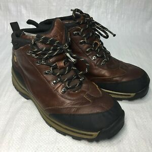 Timberland White Ledge 22913 Dark Brown Leather Mid Wtpf Boys Hiking Boots 5.5