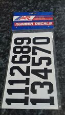 A&R Ice Hockey Helmet Number Decals Stickers