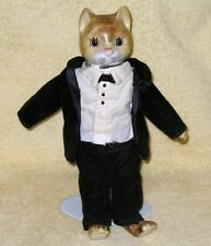 Vintage Porcelain Male Cat Doll  From 1970's