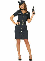 Ladies Police Policewoman Costume Fancy Dress Officer Cop Womens Outfit WPC
