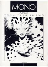 RARE Yoshitaka Amano MONO 1 & 2 ART BOOKS (1987) JAPAN Final Fantasy SIGNED!!!