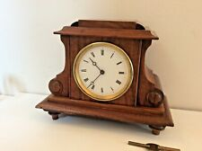 ANTIQUE FRENCH WALNUT CASED MANTLE CLOCK by A F of PARIS circa 1900s.