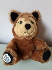 Build A Bear Brown Wolf BAB Plush Stuffed Animal Doll Soft Toy