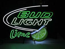 "New Bud Lime Man Cave Neon Light Sign 24""x20"" Real Glass Artwork Lamp"