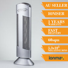 Ioniser Air Purifier Ionmax Ion401 Ionic Home  Filter Tower Office Room Silver