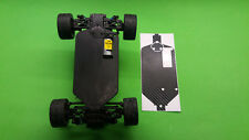 TEAM ASSOCIATED RC18 R Chassis bottom protector BLACK CARBON look chassis skin