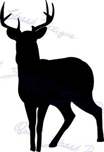 Deer Buck Silhouette Hunter Hunting - Vinyl Decal  967