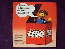 LEGO GUIDE TO NEW SETS 1974  GERMAN LANGUAFE VGC FREE UK POST
