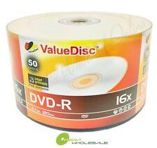 100 Value Disc Blank DVD-R 16X White Inkjet Top Printable 4.7GB Media 2x50pk