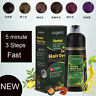 500ML Natural Fast 5 Minute 3 Steps Color Dyed Hair Shampoo Cover White Hair