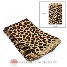 "100 Leopard Print Gift Bags Merchandise Bags Paper Bags 4""x 6"""
