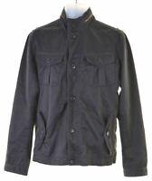 TED BAKER Mens Military Jacket Size 4 Large Black Cotton Slim Fit  JV24