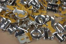 250+ Plexiglas kleine Buchstaben (1cm) Alphabet Dekoration Selbstklebend (NF20)
