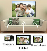 Your Photo Picture Image On Personalised Box Canvas LARGE + EXTRA LARGE SIZES