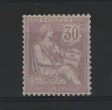 "France Stamp Yvert 128 Scott 137 "" Rights Of Man 30c Violet 1902 "" Mnh Vvf R284"