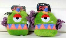 2 Count Spunky Pup Alien Flex Tribes I Am Flo Tough Squeaky Canvas Dog Toy
