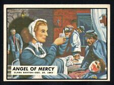 ANGEL OF MERCY  1962 TOPPS CIVIL WAR NEWS #58  EX-EXMINT NICE CORNERS NO CREASES