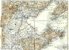 1895= CHINA = TSCHI-LI  SCHAN-TUNG = ANTICA MAPPA = Old Map