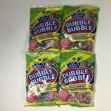New listing Dubble Bubble Gum Balls Individually Wrapped 4 Oz Fruit Flavored Lot of 4