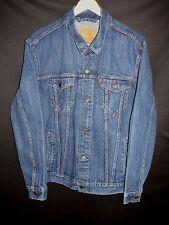 Levis Vintage Blue Denim Medium Fade Jean Trucker Jacket Men's XXL DPP