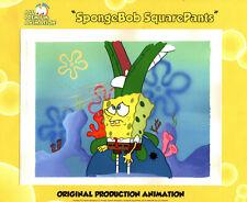 "Hand/Chop Palm + Spongebob Ce ! ""The Very Best""! Production Cel ""Texas"" #6361"