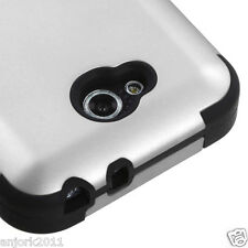 LG OPTIMUS L90 D415 TMOBILE METRO HYBRID T ARMOR CASE SKIN COVER SILVER BLACK