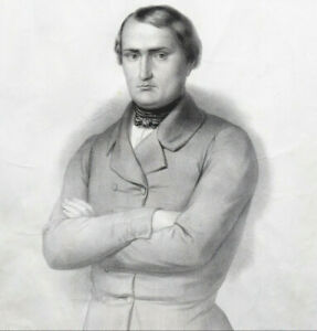 Napoléon Bonaparte Représentant du Peuple Corse lithographie Geoffroy RARE XIXe