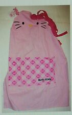 SANRIO HELLO KITTY PINK CAT FACE ADULT SIZE BAKERS KITCHEN APRON WITH POCKETS
