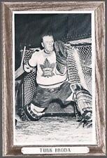 1964-67 Beehive Hockey Premium Group 3 Photo Toronto Maple Leafs #158 Turk Broda