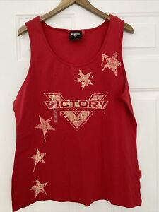 Victory Motorcycle Women's Red Star Tank Top Shirt - 3XL - NEW!
