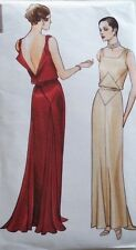 Vintage 30's VOGUE ORIGINAL DESSIN EVENING WEDDING DRESS Sewing pattern B36